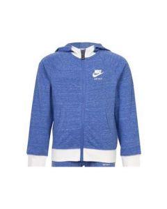 Sudadera con Capucha Niño Nike 842-B9A Azul Blanco 0