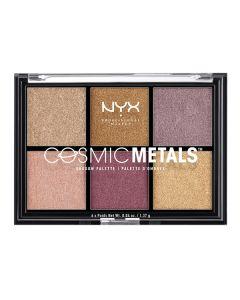 Paleta de Sombras de Ojos Cosmic Metals NYX (6 x 1,37 g) 0