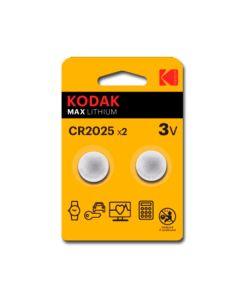 Pilas Litio CR2025 Kodak ULTRA MAX LITHIUM 3V (2 uds) 0