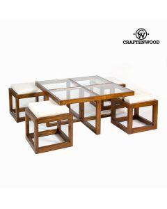 Mesa centro con 4 taburetes - Colección Serious Line by Craftenwood 0