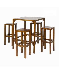 Mesa alta con 4 taburetes - Colección Franklin by Craftenwood 0