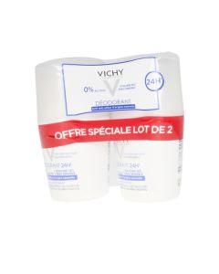 Desodorante Roll-On 24h Vichy 35779 (40 ml x 2) 0