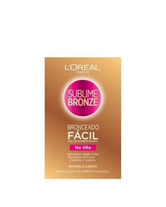 Toallitas Autobronceadoras Sublime Bronze L'Oreal Make Up (2 uds) 0