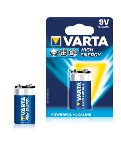 Pila Alcalina Varta 6LR61 9 V 580 mAh High Energy Azul 0