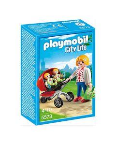 Playset City Life Mama With Twin Cart Playmobil 5573 0