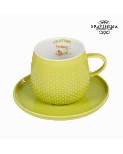 Taza con plato verde - Colección Kitchen's Deco by Bravissima Kitchen 0