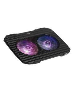 Base de Refrigeración Gaming para Portátil Mars Gaming MNBC0 RGB Negro 0