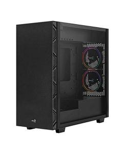 Caja Semitorre Micro ATX / Mini ITX / ATX Aerocool Flo Saturn RGB USB 3.2 Negro 0