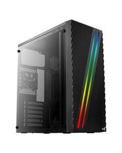 Caja Semitorre ATX Aerocool STREAK RGB USB 3.0 Negro 0