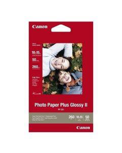Papel Fotográfico Brillante Canon Plus Glossy II 10 x 15 cm (50 uds) 0