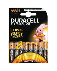 Pilas Alcalinas DURACELL Plus LR03 AAA 1.5V (8 pcs) 0