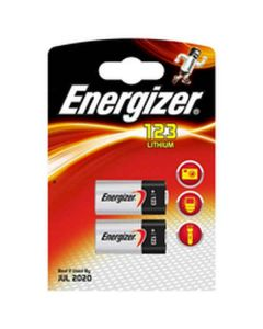 Pilas Energizer 123 Lithium (2 uds) (Reacondicionado A+) 0