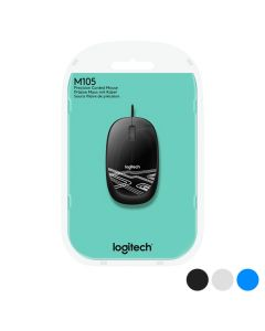 Ratón Óptico Logitech M105 1000 dpi USB 0