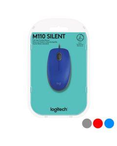 Ratón Óptico Logitech M110 Silent 1000 dpi USB 0