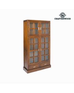 Vitrina con Doble Puerta de Cristal Craftenwood (100 x 180 x 37 cm) Madera / nogal - Colección Nogal
