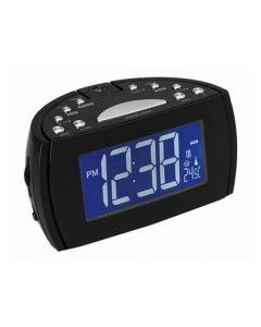 Radio Despertador con Proyector LCD Denver Electronics 224810 Negro