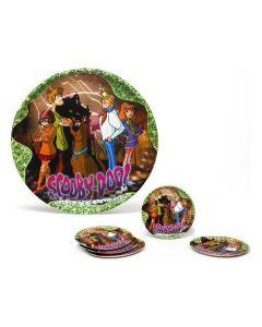 Juego de 5 Platos Scooby-Doo Cartón