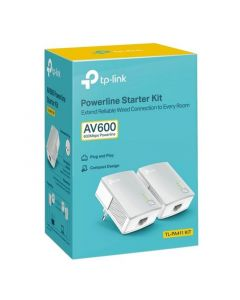 Adaptador PLC TP-Link TL-PA411KIT 600 Mbps LAN Blanco 0