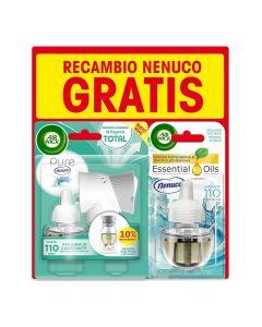 Ambientador Eléctrico y Recambio Essential Oils Air Wick Nenuco (19 ml) 0