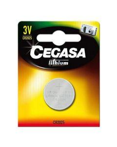 Pila de Botón de Litio Cegasa CR2025 3V 0