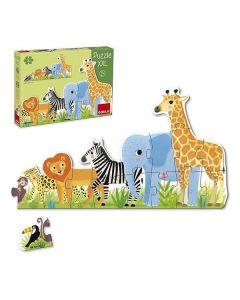 Puzzle Infantil Diset XXL Selva (16 Piezas) 0