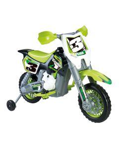 Motocicleta Feber Rider Cross 6 V Eléctrica Verde (82 X 57 x 119 cm) 0