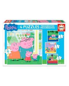 Set de 4 Puzzles Peppa Pig Educa 0