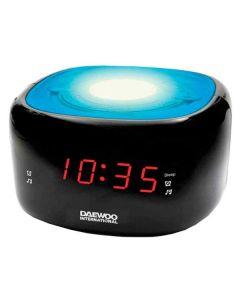 Radio Despertador Daewoo DCR-440BL LED FM Azul