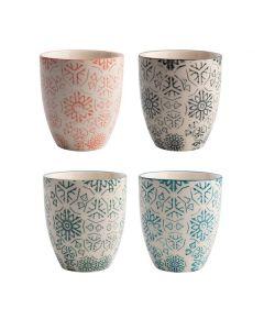 Set de Vasos Quid Vita Porcelana (Ø 8cm) (4 pcs) 0