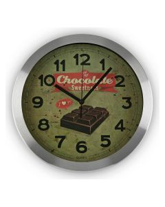 Reloj de Pared Chocolate Aluminio (4 x 30 x 30 cm) 0