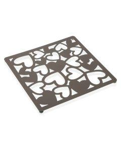 Salvamantel Kamira Metal (22 x 1 x 22 cm) Gris 0