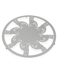 Salvamantel Metal (22 x 1 x 22 cm) Blanco 0