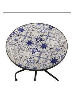 Mesa Garden Greek Azul Metal (60 x 71 cm) 0