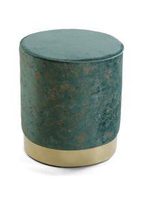 Taburete Verde madera y metal Poliéster (34 x 37 x 34 cm) 0