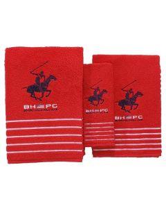 Juego de Toallas Beverly Hills Polo Club (3 pcs) Rojo 0