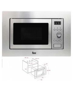 Microondas Integrable con Grill Teka MWE204FI 20 L 800W Acero inoxidable 0