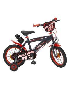 "Bicicleta Infantil Toimsa Vulcano 14"" Negro Rojo 0"