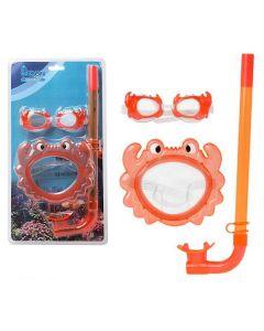 Gafas de Buceo con Tubo Infantiles 115098 Naranja 0