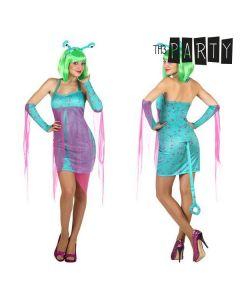 Disfraz para Adultos Alien sexy Azul (4 Pcs) 0