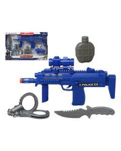 Set de Policía Azul 117280 (4 Pcs) 0