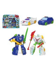 Coche robot Max Hero (2 uds) Blanco Azul 112628 (2 Uds)
