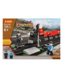Juego de Construcción con Bloques City Train 119818 (158 pcs) 0