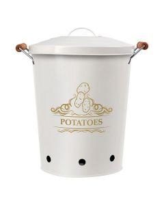 Bote Metálico Potatoes Blanco 111279 0