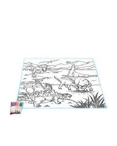 Alfombra DIY Fantastic Color Dinosaurs 111354 0