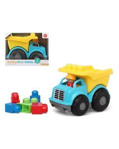 Camión con Bloques de Construcción 114607 Azul Amarillo (6 Pcs) 0