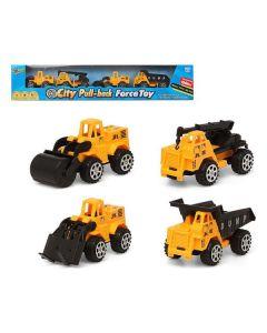 Vehículos de Construcción 119480 Amarillo (4 Pcs) 0