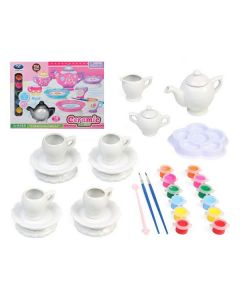 Set de Manualidades Ceramic Tea DIY 119893 (19 pcs) 0