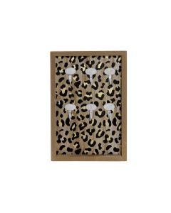 Armario de llaves DKD Home Decor Negro Metal Madera MDF (20 x 3 x 30 cm) 0