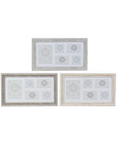 Marco de Fotos DKD Home Decor Cristal Poliestireno Tradicional (3 pcs) (56 x 2 x 33 cm) 0