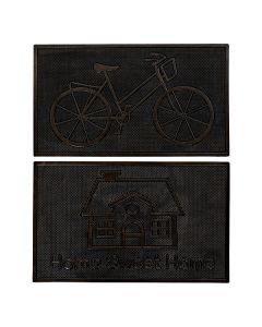 Felpudo DKD Home Decor Goma (2 pcs) (75 x 45 x 1.5 cm) 0
